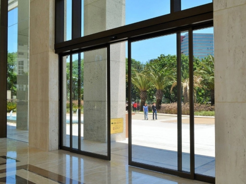 Onde Comprar Porta Vidro Automática Capivari - Porta de Loja Automática