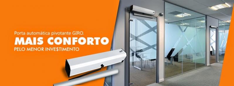 Porta de Vidro de Correr Automática Saltinho - Porta Automática de Vidro