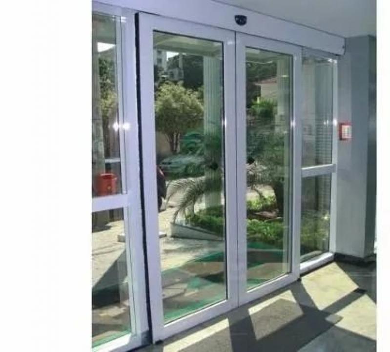 Portas Automáticas Deslizantes Iracemápolis - Porta de Vidro de Correr Automática