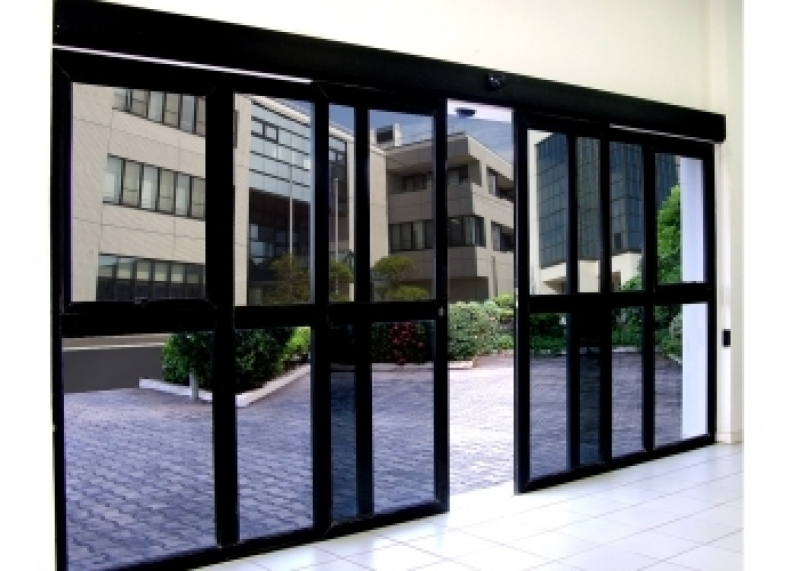 Portas de Vidro Automáticas com Sensor Saltinho - Porta de Loja Automática