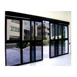porta de vidro de correr automática