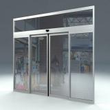 porta de correr automática de vidro à venda Rio Claro